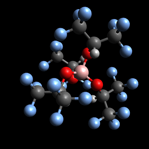 Screenshot (B,O,C,H,F) Avogadro